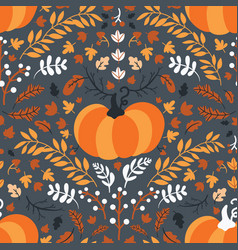 Seamless pattern for thanksgiving celebration of vector