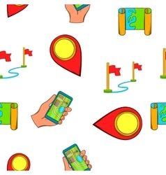 Search way pattern cartoon style vector image