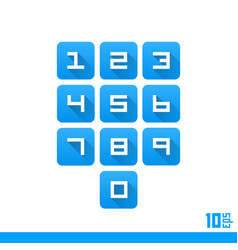 set numbers buttons vector image