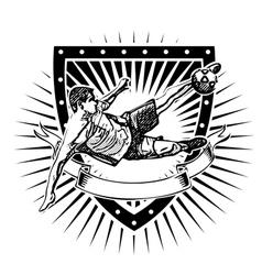 soccer shield 2 vector image