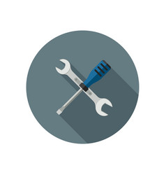 Spanner and screwdriver vector