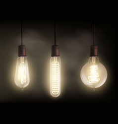Spiral light bulb vector