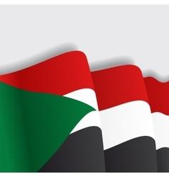 Sudan waving Flag vector