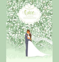 summer wedding vector image
