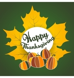 thanksgiving ethnic maple leaf pumpkin doodle vector image