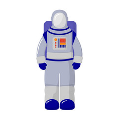 the cosmonaut in the suit isolated on white vector image