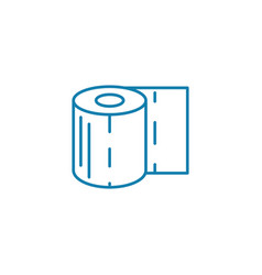 toilet paper linear icon concept toilet paper vector image