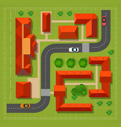 Town top view vector