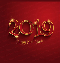 typography happy new year design vector image