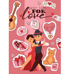 valentines day best time vector image