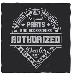 vintage label design with lettering vector image