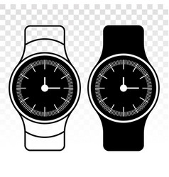 Wristwatch wrist watch flat icon for apps vector