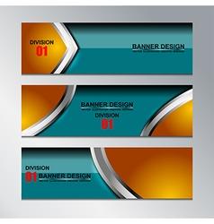 banner modern design vector image