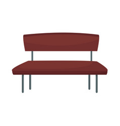 Brown bench seat furniture wooden image vector