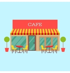 building restaurant and vector image vector image