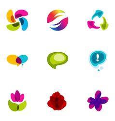logo design elements set 35 vector image vector image
