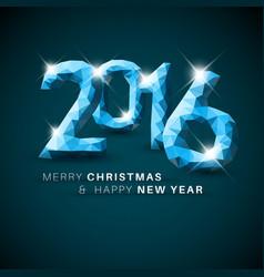 Modern simple happy new year card 2016 vector