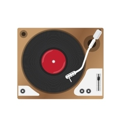 Record player with vinyl record isolated vector image vector image