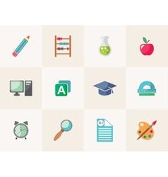 school icon set vector image