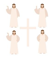 Set of Jesus vector image