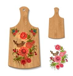 wooden utensil3 vector image vector image