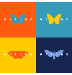 Butterfly Set of logo design templates vector image vector image