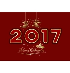 Merry Christmas 2017 Christmas greeting card vector image