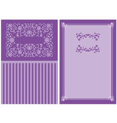 purple floral invitation vector image vector image