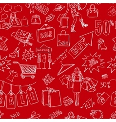 Sale seamless pattern background vector image vector image