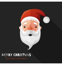 Santa Claus Face with Flat Design vector image vector image