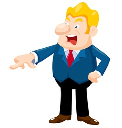 business man an angry vector image