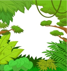 Cartoon Tropical jungle background vector image