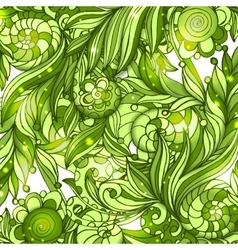 Fairy hand drawn green doodle ornament vector image