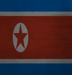 Flag of North Korea messy vector image vector image