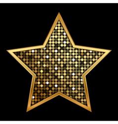 Gold shiny star vector