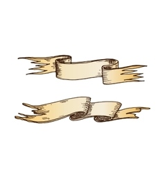 Hand drawn ribbons vector image vector image