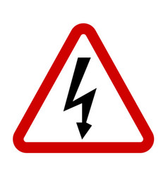 high voltage sign danger symbol vector image