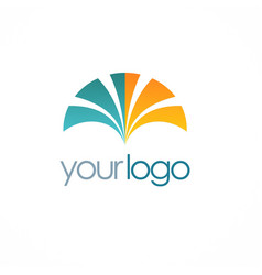 loop color business logo vector image