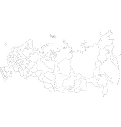 Outline Russia map vector image