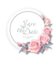 round floral frame delicate wedding floral vector image vector image