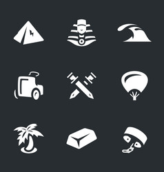 Set of ancient egypt icons vector