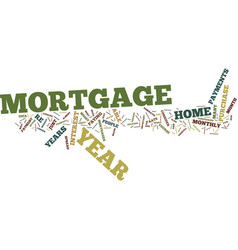 the new year mortgage text background word cloud vector image vector image