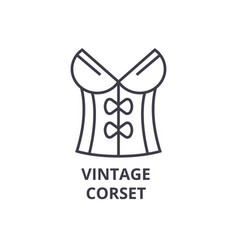 vintage corset line icon outline sign linear vector image vector image
