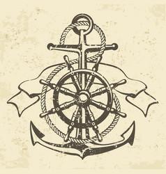 Anchor symbol badge grange vector