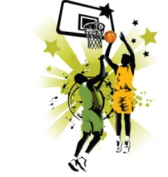 basketball forever vector image vector image