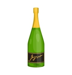 Bottle of champagne icon in cartoon style isolated vector image
