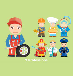 childrens people profession young children are vector image