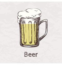 colorful of hand drawn sketch of beer mug vector image