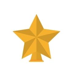 Isolated gold star of Christmas season design vector image