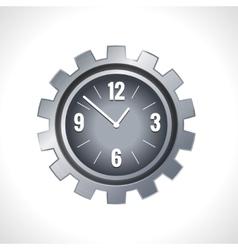 Metal gear clock vector image vector image